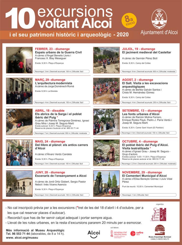 Programa 10 excursiones alrededor de Alcoy 2020