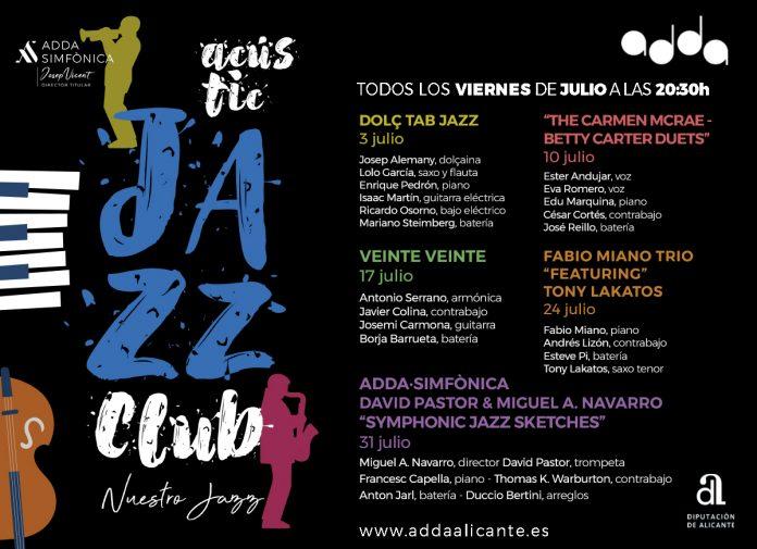 Ciclo Jazz gratuito ADDA