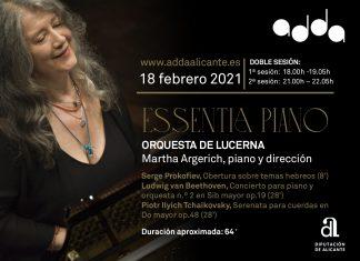 Concierto de la Orquesta de Lucerna y Martha Algerich en el ADDA