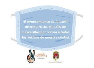 Ayuntamiento de Alicante reparto mascarillas por correo