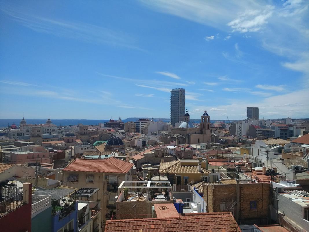 Barrio Santa Cruz vistas mirador