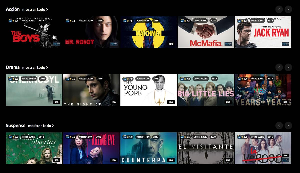 Buscador de series y películas Netflinity