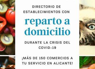 Establecimientos Alicante con reparto a domicilio cuarentena