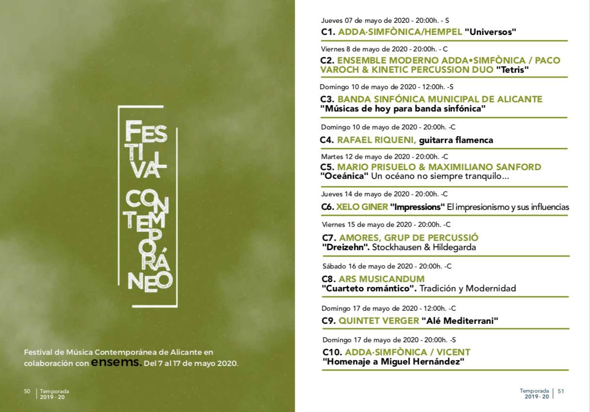 Festival de Música Contemporánea Alicante ADDA