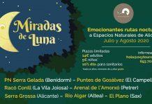Miradas de Luna, rutas nocturnas espacios naturales deAlicante