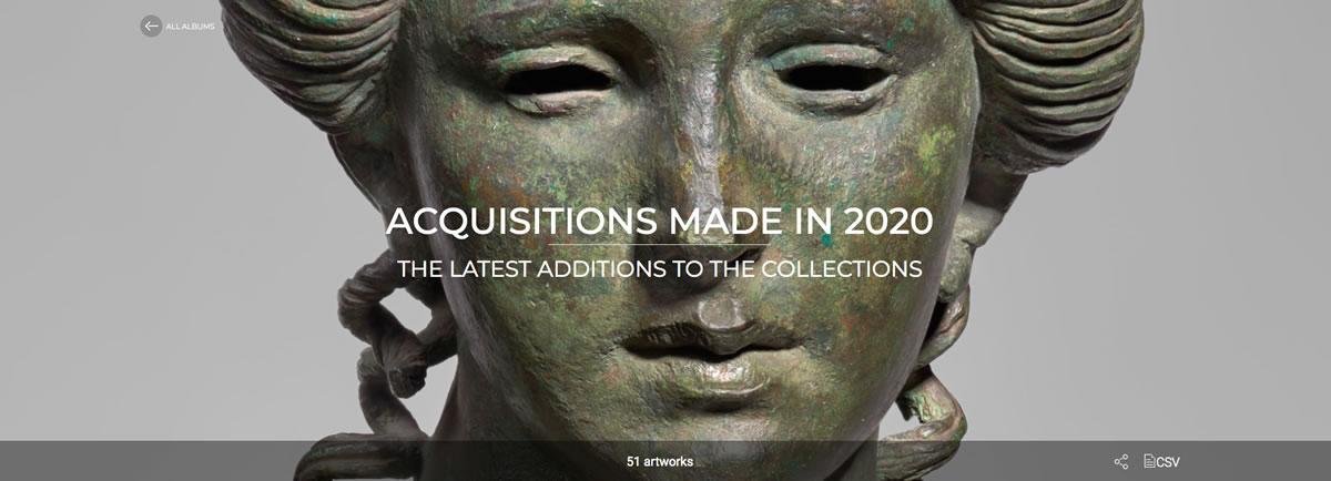Álbum Louvre adquisiciones 2020