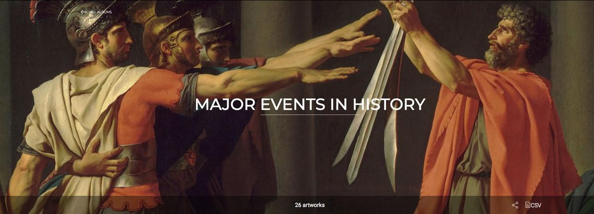 Museo Louvre online grandes acontecimientos de la Historia