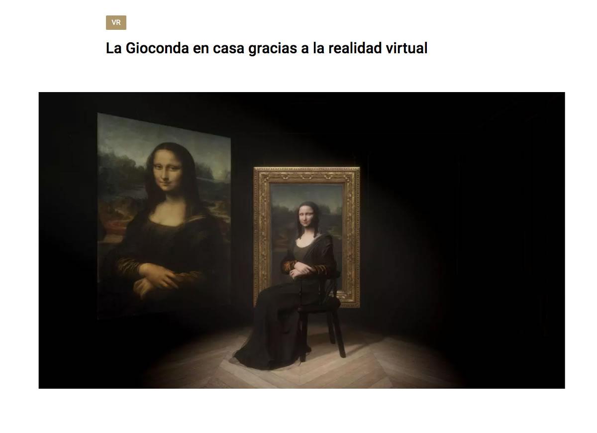 La Gioconda realidad virtual