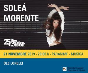 Soleá Morente en concierto en la UA