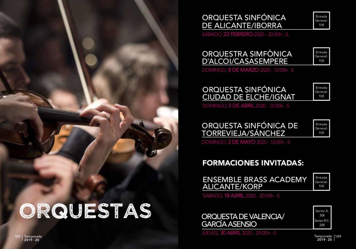 Orquestas Sinfónicas en el ADDA