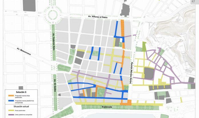 Peatonalización del centro de Alicante