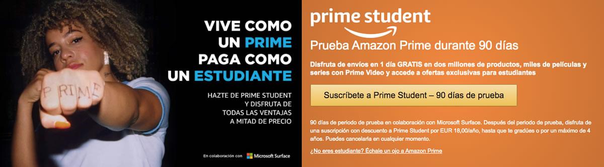 Prueba gratuita Amazon Prime Video con Prime Student