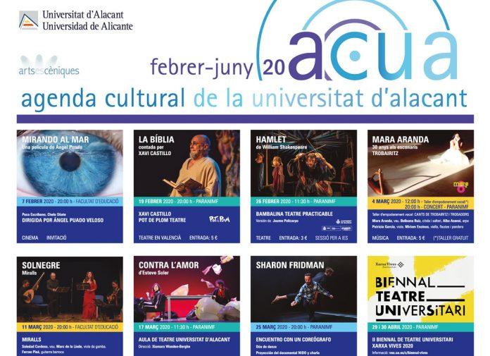 Programación agenda ACUA segundo cuatrimestre 2019/2020